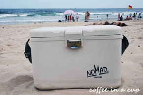 Nomad Cool Box on the Beach