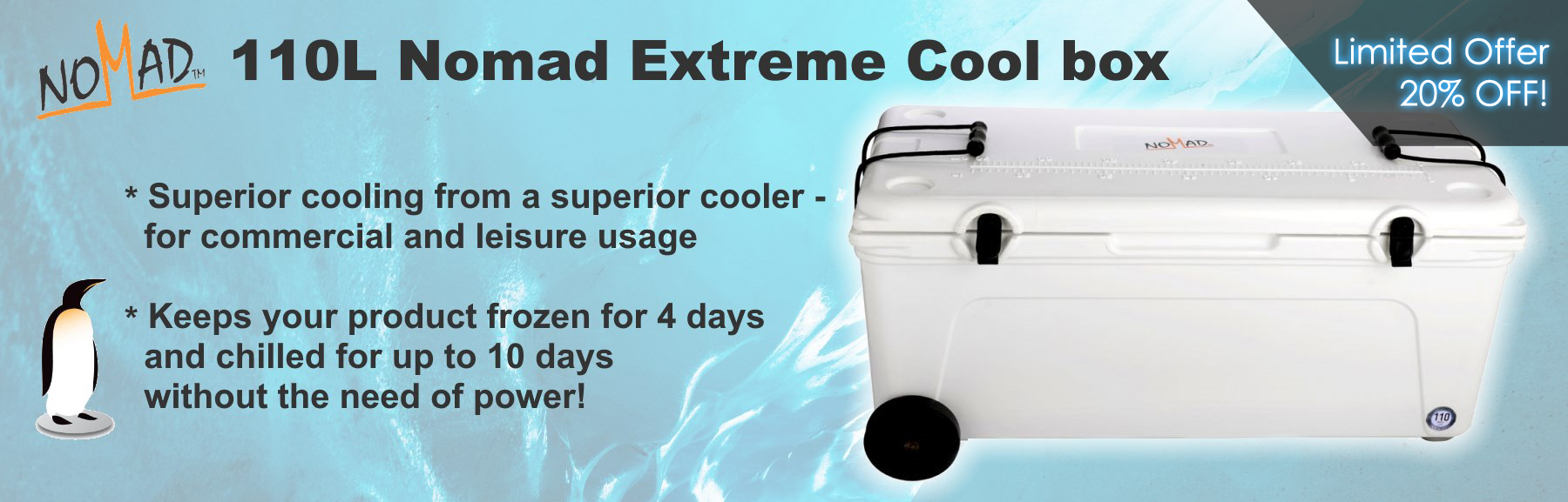 110L Nomad Extreme Cool Box
